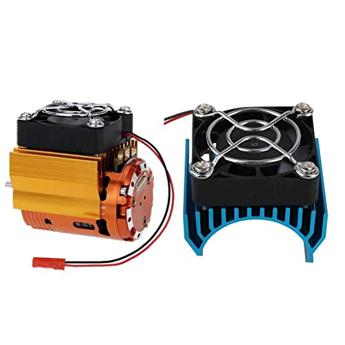 Homyl 2pcs Radiateur de Moteur Dissipateur de Chaleur avec Ventilateur 5-6V Diamètre 40mm pour Voiture 1/10 RC