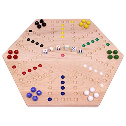 Maple-Wood Double-Sided Aggravation Marble Game Board, 20