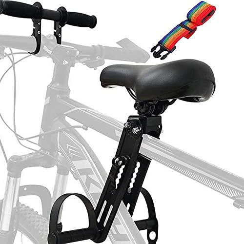 Flycoo2 Bambini Bici Seggiolino con Manubrio per MTB, Bike Seggiolini Anteriori per Bambini da 2-5 Anni (Fino a 40 kg) Prolunga Manubrio con Attrezzi per Tutte le Mountain Bike per Adulti