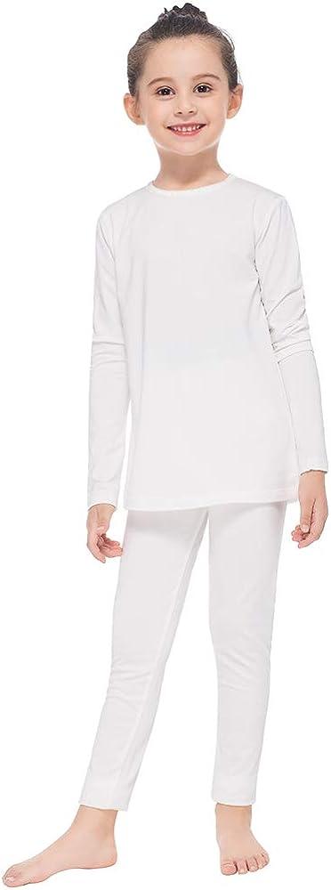 MANCYFIT Thermal Underwear for Girls Fleece Lined Long Johns Set Kids Base Layer Ultra Soft