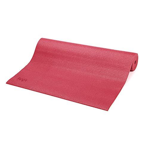 Bodhi Yoga-Matte ASANA aus PVC, schadstofffrei, rutschfest, waschbar, perfekt für Einsteiger, Fitness- und Pilates-Matte, 183 x 60 cm, 4mm, (Bordeaux-rot)