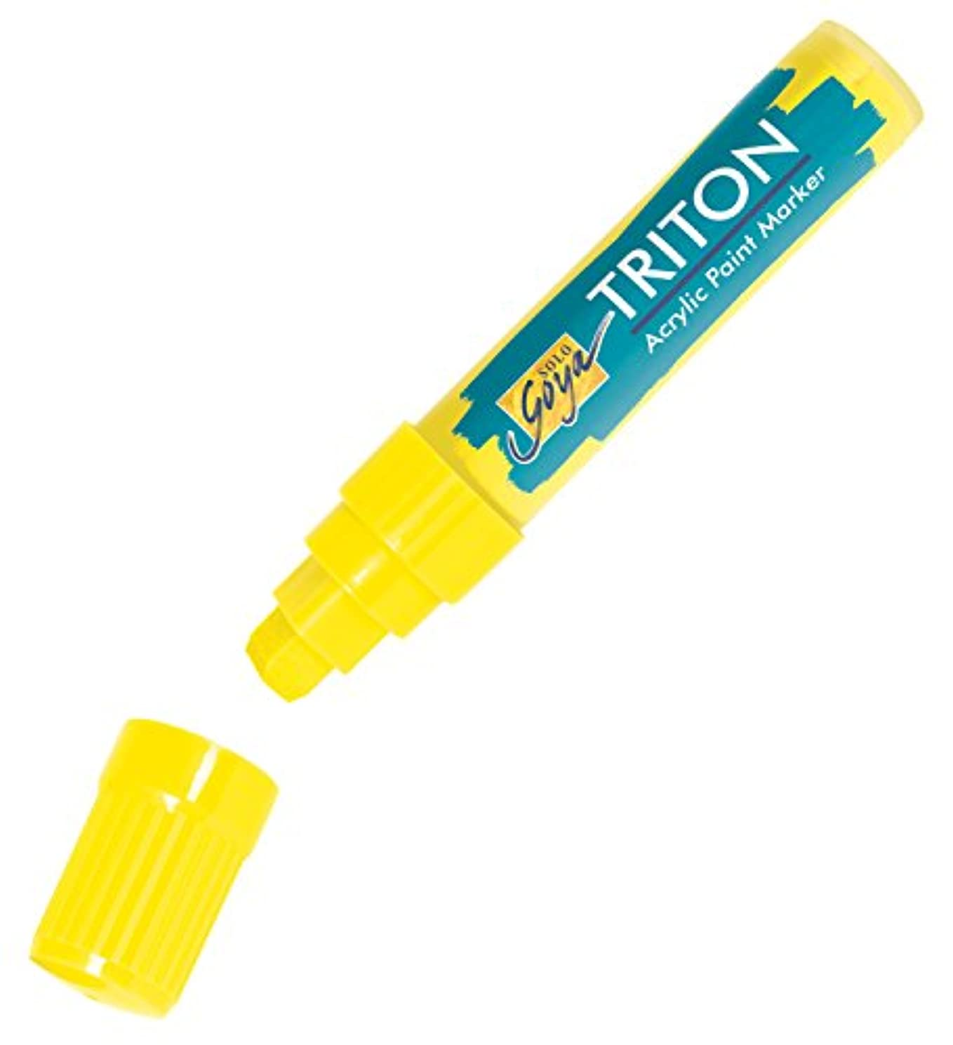 Kreul 17926?(Solo Goya Triton Chisel Tip Acrylic Paint Marker 15?mm) Lemon Yellow