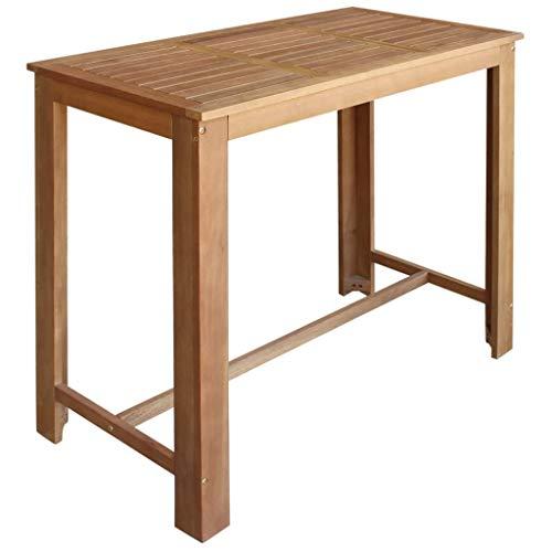vidaXL Bartisch Akazienholz Massiv 120x60x105cm Stehtisch Bistrotisch Esstisch