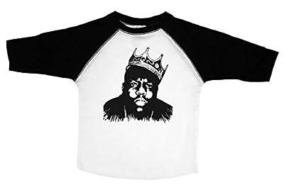 Baffle Biggie Smalls Toddler Tee/Biggie/Notorios Big Toddler Shirt (4T, Raglan)