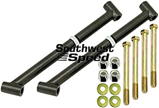NEW 64-67 GM A-BODY REAR TRAILING ARM MOUNT BRACE KIT BY SOUTHWEST SPEED, TIES THE UPPER & LOWER MOUNTS TOGETHER FOR ADDED STRENGTH CHEVELLE MALIBU SKYLARK CENTURY CUTLASS F-85 442 GTO LEMANS TEMPEST