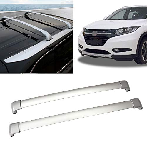 Roof Rack Aluminum Top Rail Carries Luggage Carrier Replacement for 2016-2019 Honda HRV Cross Bars