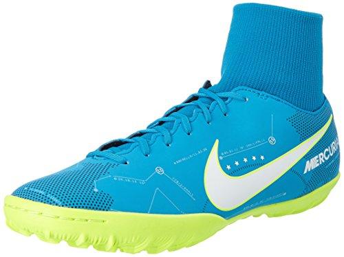 Nike Mercurial X Victory 6 DF Neymar Tf 92151, Scarpe per Allenamento Calcio Uomo, Turchese (Blue Orbit/White/Armory Navy/Volt), 45 EU