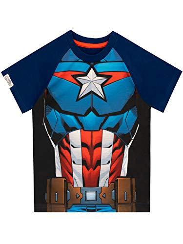 Marvel Camiseta para niños Capitán América Azul 18-24 Meses