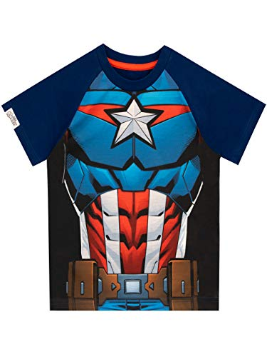 Marvel Camiseta para niños Capitán América Azul 3-4 Años
