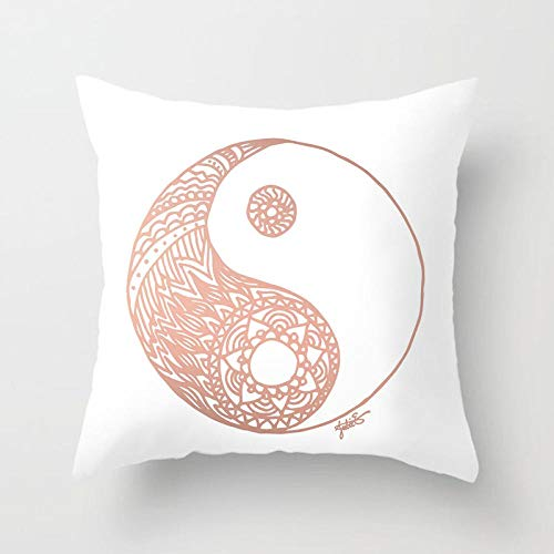 YXYLQ New Rose Gold Pink Series Cushion Covers Marble Texture Geometric Pillows Cover Livingroom Decorative Sofa Throw Pillows Case-45X45Cm_Drd163-21