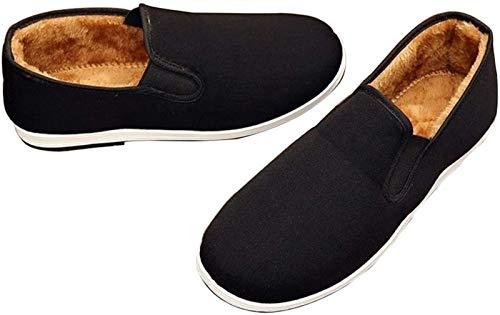 Mr. Hao Zapatos De Kung Fu - Zapatillas Cómodas para Hombre Artes Marciales Tradiciones Chinas Casuales Zapatos De Tai Chi,Black-MEUR43