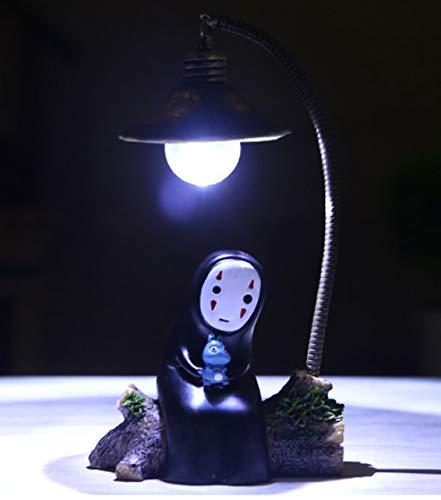 LED Cartone Animato Artigianato Luce Notturna Resina Creativa Miyazaki Persona Senza Volto Decorazione Luce Decorazione Cameretta Per Bambini Illuminazione Luce Notturna B