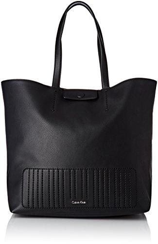Calvin Klein - Bolso de asas de Cuero para mujer 14x35x45 cm...
