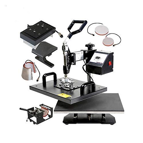 QWERTOUY 38x38cm lage kosten 5IN1 Swing warmte pers machine T-shirt/mok/hoed/plaat warmteoverdracht drukmachine