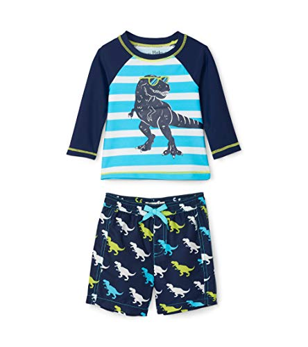 Hatley Rash Guard Swimsuit Sets Ensemble de Bain, Bleu (Cool Trex 400), 18-24 Mois Bébé garçon