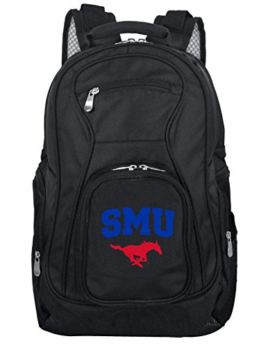 Denco NCAA SMU Mustangs Voyager Laptop Backpack, 19-inches, Black