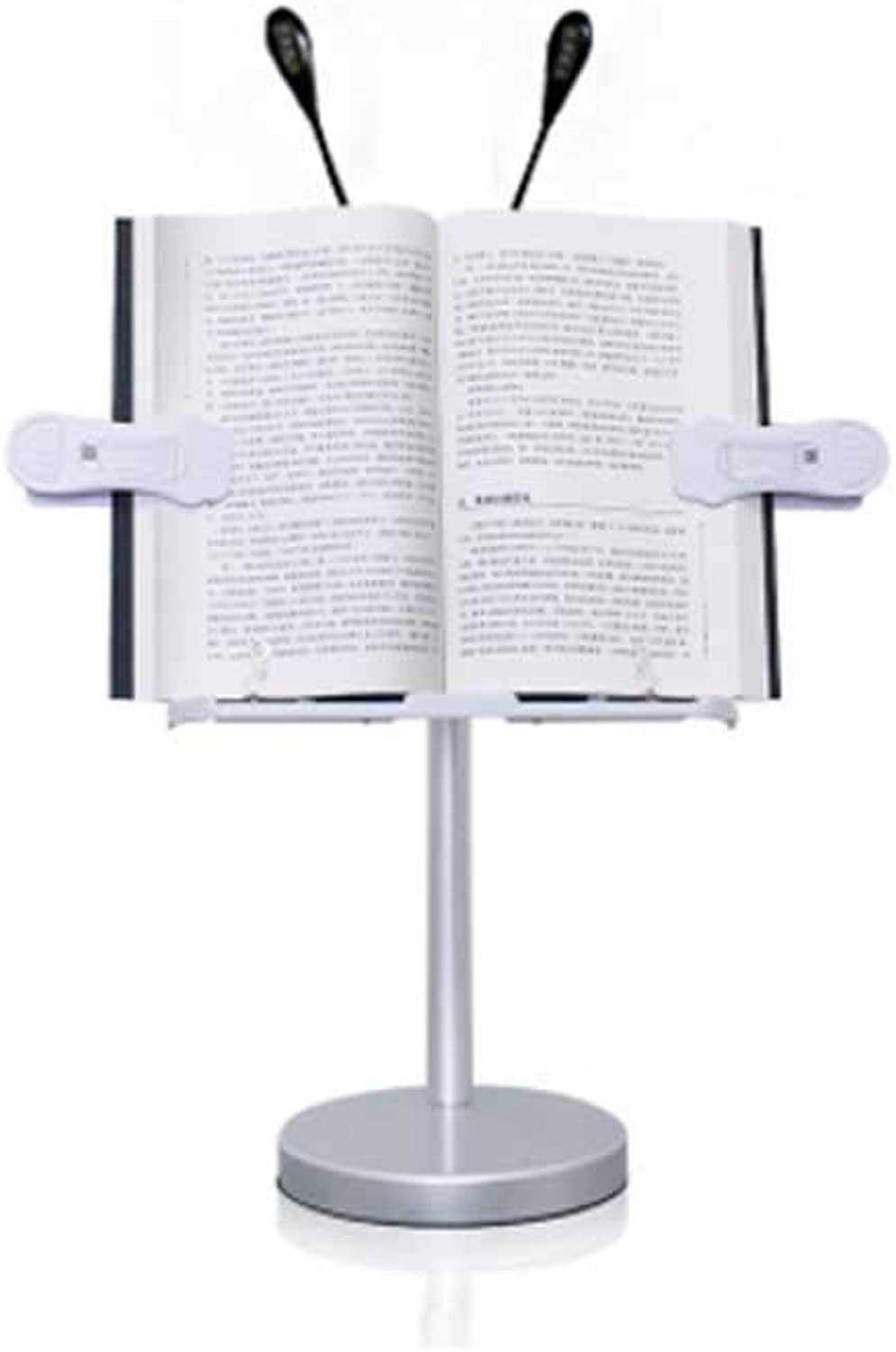 Multi-Function Book Stand for Student with Light, 360 Degree redatable Aluminum Alloy Book Holder in Bed, Portable Reading Stand Adjustable Height Document Holder, book stand Display (color   B)
