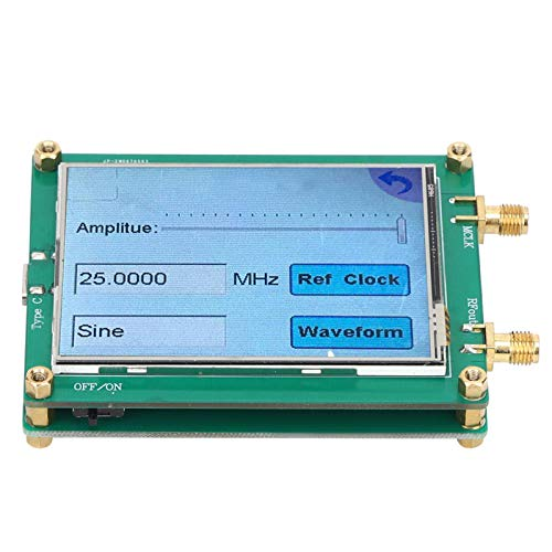 Cloudbox Signal Generator -AD9833 TFT Full Touch Screen Signal Generator DDS Source Dot Frequency for Sine/Triangle/Square Wave