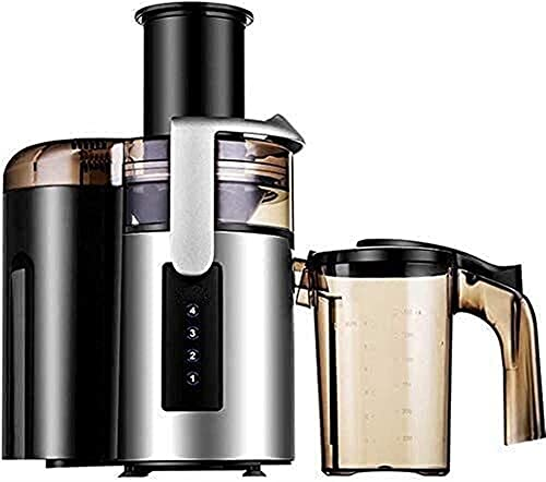 Compact Food Processor, Juicer, Slow Juicer With Large Feed Chute Mouth Wide, The Liquid Crystal Smart Juicer Extractor, Fruit Juice and Fruit Juice Separation, Easy to Clean Juicer Electric W mastica