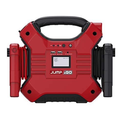 Best Buy! JUMP&GO JX02 / 32,000mAh Portable Car Jump Starter - 12V :1200A Paek, 24V:600A Paek, Power...