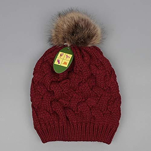 Muts solide gebreide pompons dikker gehaakte hoed vrouwelijk warm beanie twist patroon winter muts vrouwen zachte elegante beanies voor meisjes