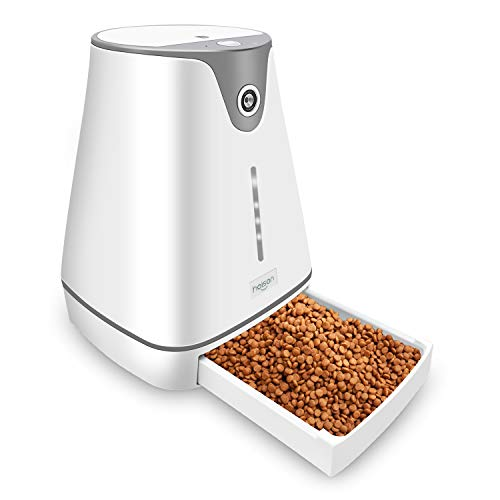 GICLAIN Automatic Pet Feeder Auto Cat Dog Timed Programmable Food Dispenser Feeder for Medium Small Pet Puppy Kitten,HD Camera for Voice and Video Recording,Wi-Fi Enabled App for iPhone and Android