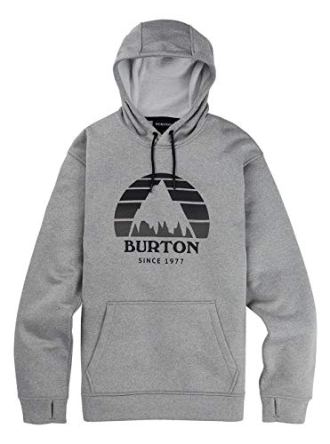 Burton Herren Oak Seasonal Fleece Pullover, Gray Heather, L