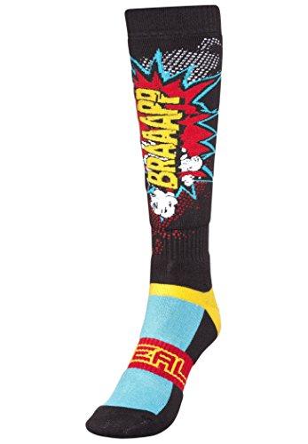 O'NEAL | Motocross-Socken | Motocross Enduro | Verstärkte Maschen in Fersen & Sohlenbereich, Bessere Dämpfung, Strapazierfähiger Stoff | Pro MX Sock BRAAAPP | Erwachsene | Multi | One Size