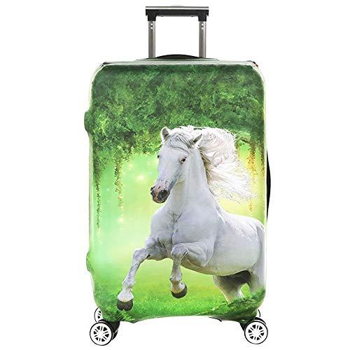 Copertura per bagagli con stampa 3D lavabile in spandex da viaggio, protezione spessa, per valigia da viaggio, adatta per bagagli da 18 a 32 pollici, Spandex, Cavallo, XL(29''-32')