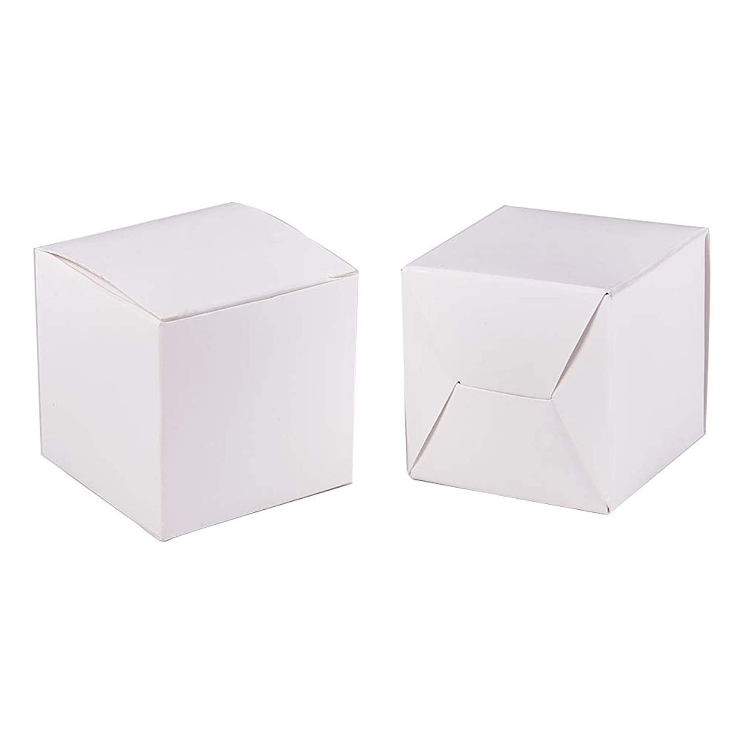 BENECREAT 60PCS Gift Boxes White Paper Boxes Party Favor Boxes 2 x 2 x 2 Inches with Lids for Gift Wrapping, Wedding Party Favors jrwqwldmaglnov