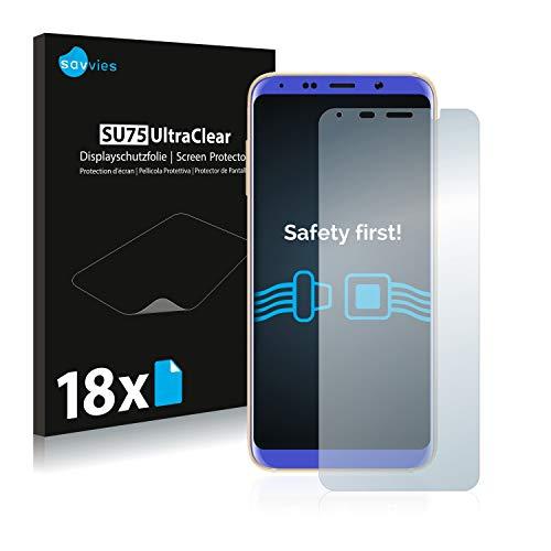 Savvies 18x Schutzfolie kompatibel mit Bluboo S8 Bildschirmschutz-Folie Ultra-transparent