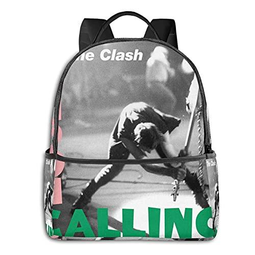 The Clash London Calling - Mochila de viaje para hombre y niña, mochila multifuncional para portátil, impresión en D, resistente al agua, resistente al agua
