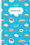 Notebook: With Pretty Pattern Of Sweet Breakfast Food (donuts, cake, biscuits, coffee). Suitable For School, College, Work And Dessert Lovers