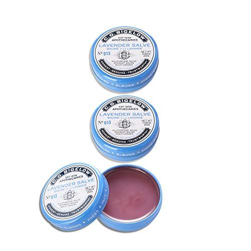 C.O. Bigelow All Purpose Lavender Salve Lip Balm, 0.8oz (22g) Tin, 3 pack