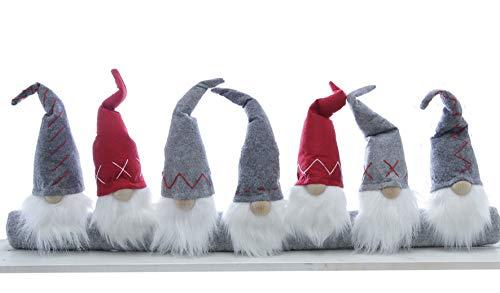 Spetebo - Paraspifferi 90 cm – gnomo – Fermaporta decorazione natalizia per finestra