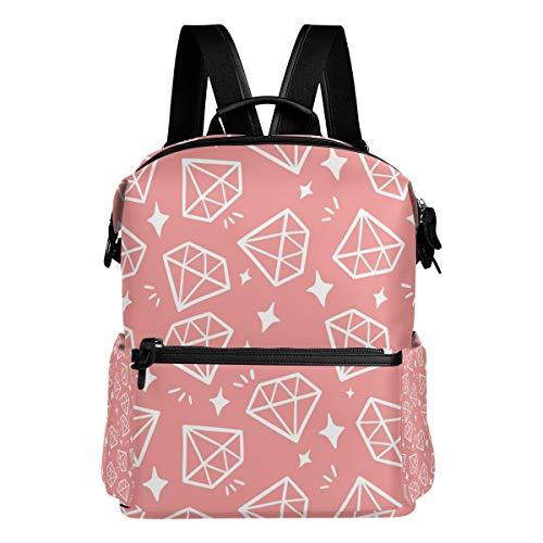 FAJRO Reiserucksack/Handtasche mit Glitzersteinen, Pink