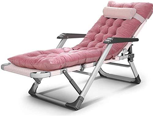 TUHFG Liegestuhl Indoor Outdoor Recliner Folding Büro Mittagspause NAP Bet Single Chair Garten Terrasse Deck Camping Strand Sonnenliege, Last 250kg (Color : A)