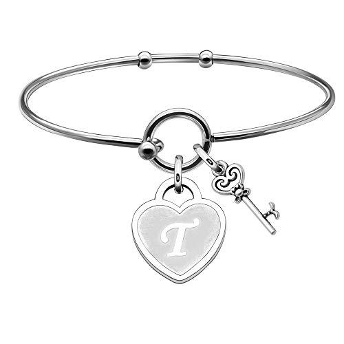 YONGHUI A-Z 26 Alphabet Silver Heart Shape Key Pendant Bracelet Bangle for...