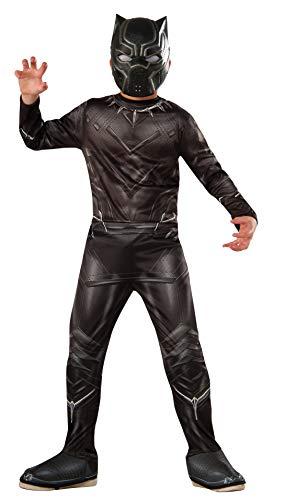 Rubie's Costume per bambini da personaggio Civil War Black Panther, taglia L, età 8-10anni, altezza 142-152 cm