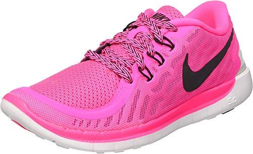 Nike Unisex-Kinder Free 5.0 (gs) Laufschuhe, Pink (Pink Pow/Black-Vivid Pink-Wht 600), 36.5 EU