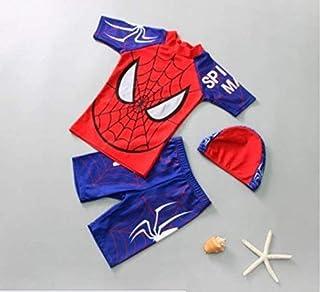 ملابس سباحة للأولاد والأطفال 3 قطع ملابس سباحة أيرون مان هيرو كرتون سحاب راش جارد بدلة استحمام للأطفال SuR'Fing Sport Beac...