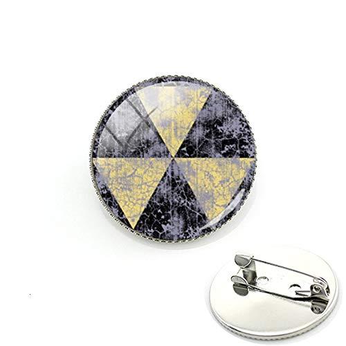 Anstecknadel, Motiv: Fallout Shelter, Foto-Glas-Cabochon, Kuppel für Tasche, Kleidung, Dekoration, handgefertigter Schmuck, Geschenk
