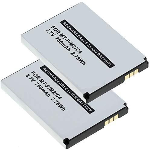 MeXXstar 2 x Akku für AVM Fritz!Fon MT-F / M2 / C4 / C5 / 312BAT006 (Li-Ion - 750mAh/2,78Wh) (2 Stück)