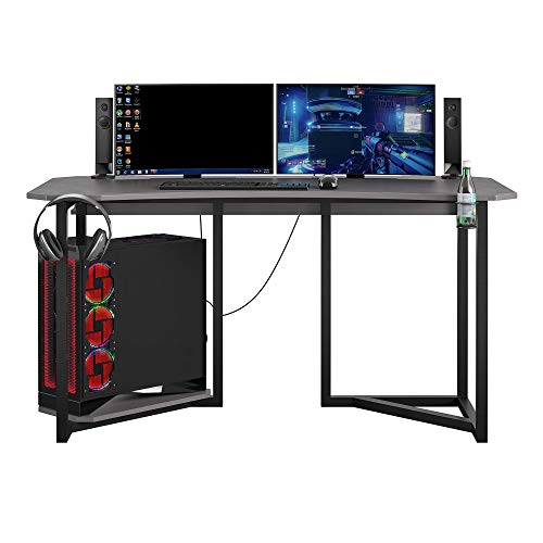 NTense Quest Gaming Desk with CPU Stand, Wire Management - $215.99
