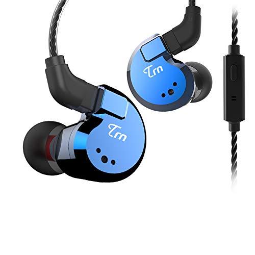okcsc TRN V80 2BA + 2DD Hybrid-In-Ear-Kopfhörer, abnehmbar, 0,75 mm, 2-polig, dynamisch, symmetrisch, mit Mikrofonen Blue,with mic