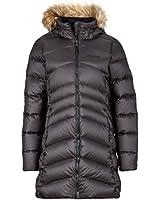 Marmot Women's Montreal Knee-Length Down Puffer Coat, Fill Power 700, Jet Black,Medium