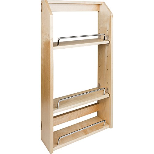 Hardware Resources SPR15A Wall Cabinet Adjustable Spice Rack, Hard Maple