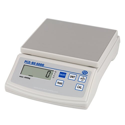 PCE Instruments Tischwaage PCE-BS 6000, 6.000 g/1 g, Waage, Waagen, Leicht, Batterie, Netz