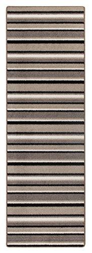 Luxor Living Plano Brücke Küchenläufer Läufer Polypropylen modernes Design Teppich, beige-grau, 65 x 200 cm