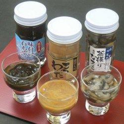 【石川県・能登産】磯の香り3点セット(味付け岩もずく65g、茶ぶり味付けなまこ70g、このわた80g)